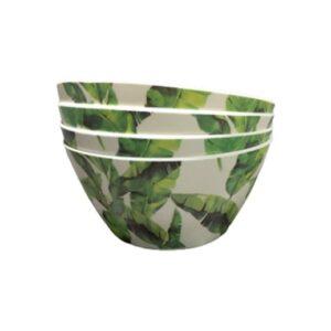 Bambus Dekoschale Tropicalblätter - 4er Set bei bekos.ch