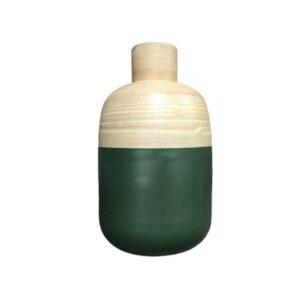Bambusvase mit grüner Außenhülle bei bekos.ch