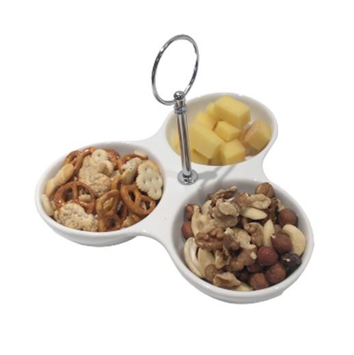 Servierset 3-Fach für Snacks / Aperoschalen bei bekos.ch