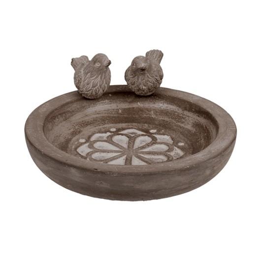 Vogeltränke / Vogelfutterschale aus Zement 3teilig bei bekos.ch