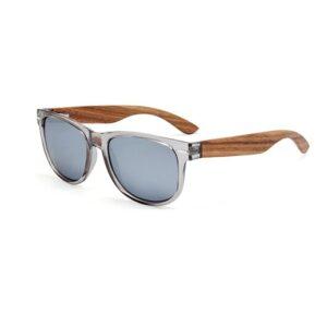 Weichbraun getönte Sonnenbrille mit Zebraholz bei bekos.ch