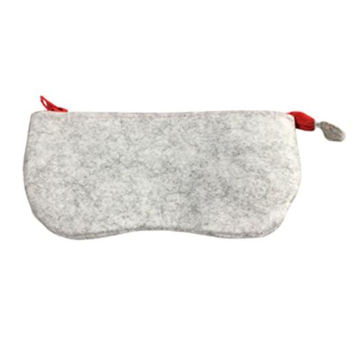 Brillenetui aus weichem Filz mit Reisverschluss Rot bei bekos.ch