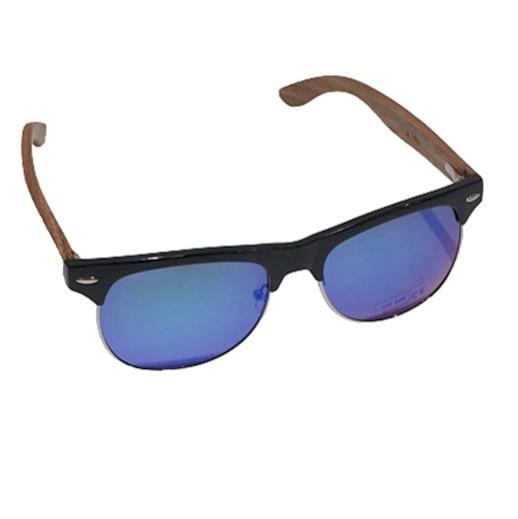 Polarisierte Sonnenbrille mit Zebra-Holz Bügel bei bekos.ch