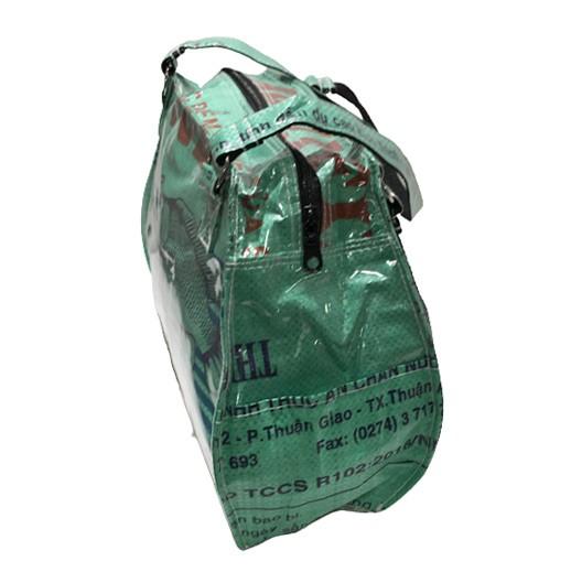 Upcycling - edle Handtasche aus Fischfuttersäcke grün bei bekos.ch