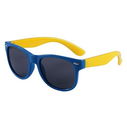 Unzerstörbare Kindersonnenbrille Blau / Gelb bei bekos.ch