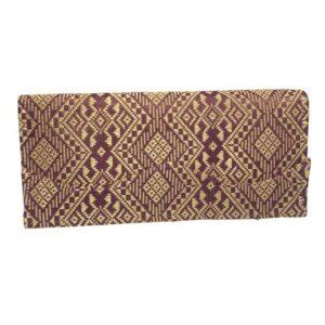 Elegante Damengeldbörse aus Khamer-Seide in burgundy / gold bei bekos.ch