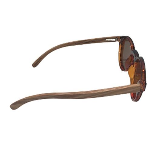 Elegante Sonnenbrille mit Zebraholz bei bekos.ch