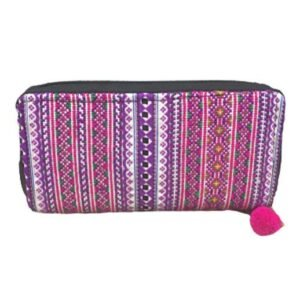 Geldbörse aus 100 % Baumwolle, weiss/pink, large bei bekos.ch