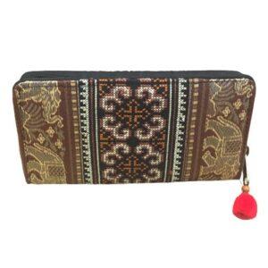 Geldbörse aus 100 % Baumwolle, brauner Elephant, large bei bekos.ch