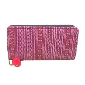 Geldbörse aus 100 % Baumwolle, pink, large bei bekos.ch