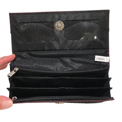 Geldbörse mit bestickter Seide in Burgundy bei bekos.ch