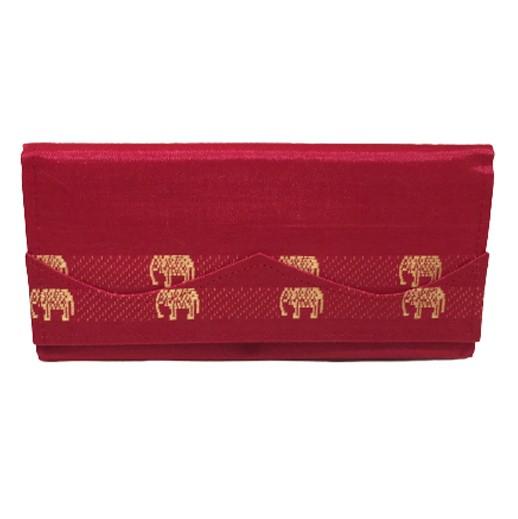 Geldbörse mit bestickter Seide in Rot bei bekos.ch