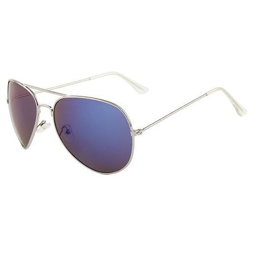 Pilotenbrille silberfarbig und blau getönt bei bekos.ch