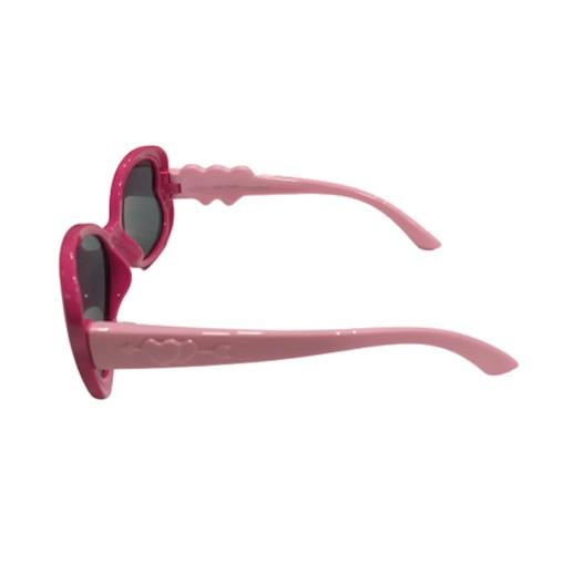 Kinder Sonnenbrille Herz Pink / Rosa Polarisiert bei bekos.ch