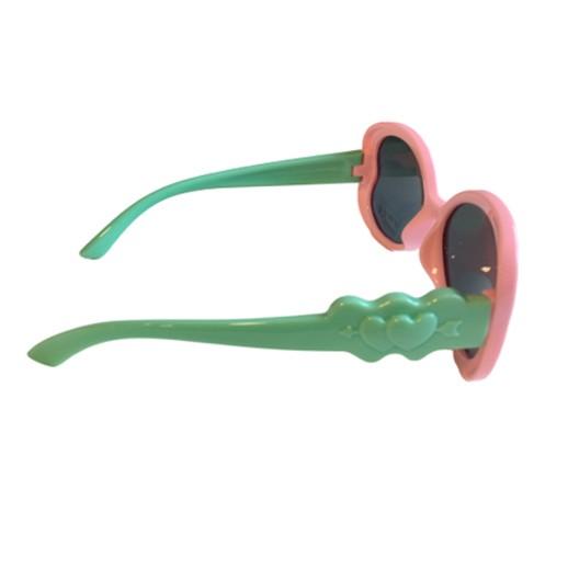Kinder Sonnenbrille Herz Rosa / Mint Polarisiert bei bekos.ch