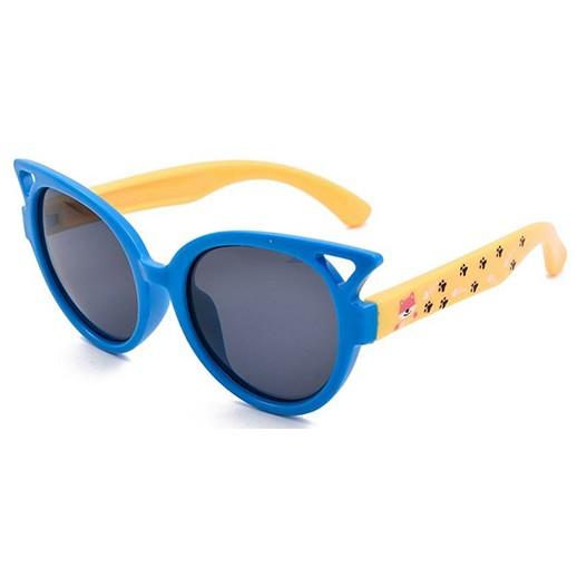 Kinder Sonnenbrille Luchs blau / gelb Polarisiert bei bekos.ch