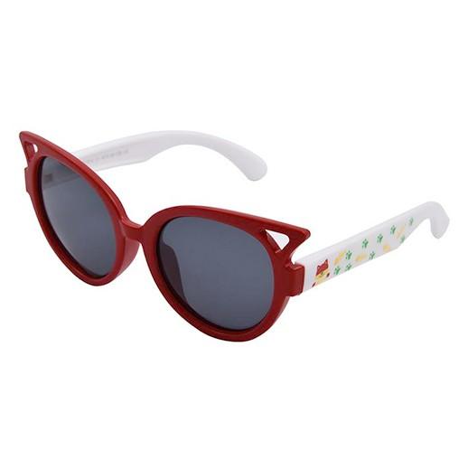 Kinder Sonnenbrille Luchs rot / weiss Polarisiert bei bekos.ch
