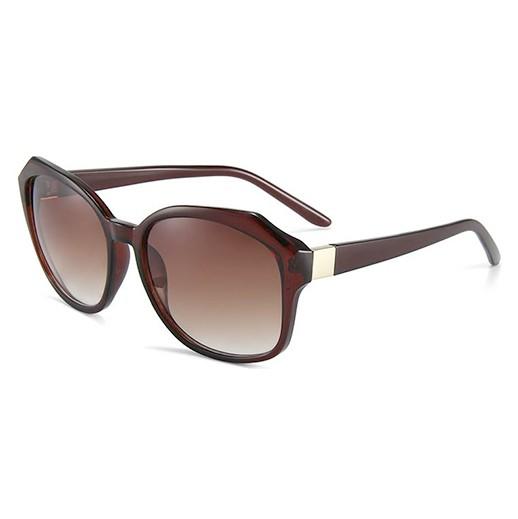 Modische Damen Sonnenbrille Polarisiert, Braun transparent bei bekos.ch