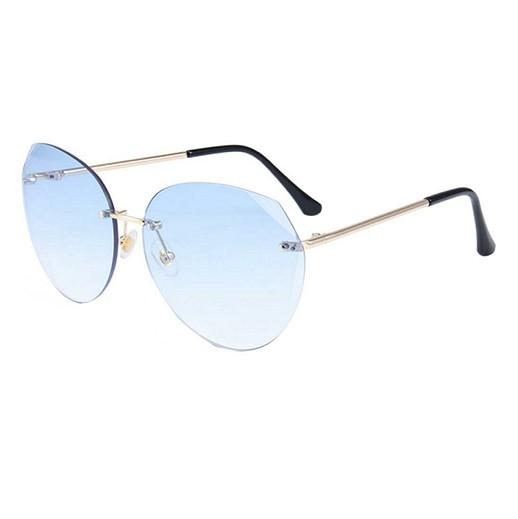 Modische Damen Sonnenbrille mit blau getönten Gläser bei bekos.ch
