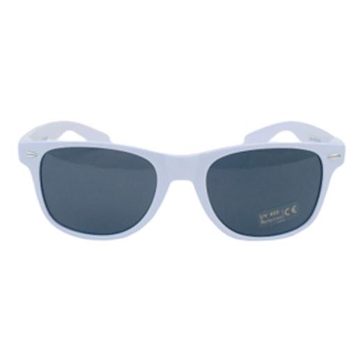 Retro Sonnenbrille weiss glänzend bei bekos.ch