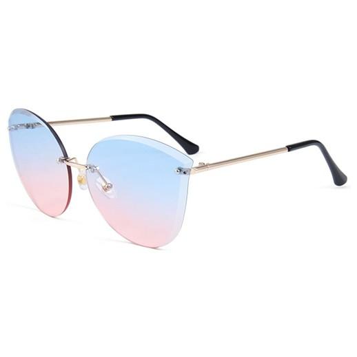 Stylische Damen Sonnenbrille mit blau rot getönte Gläser bei bekos.ch
