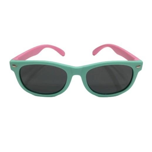 Unzerstörbare Kindersonnenbrille Mint / Rosa bei bekos.ch