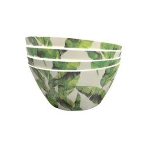 Bambus Schale Tropicalblätter - 4er Set bei bekos.ch