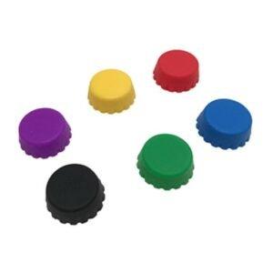 Kronkorken aus Silikon 12er Set / 6 Farben bei bekos.ch