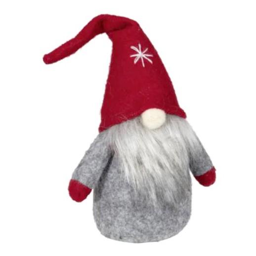 Dekofigur Wichtel grau mit roter Zipfelmütze bei bekos.ch