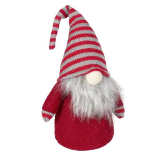 Dekofigur Wichtel rot mit gestreifter Zipfelmütze bei bekos.ch