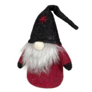 Dekofigur Wichtel rot mit schwarzer Zipfelmütze bei bekos.ch