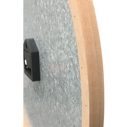 Grosse Wanduhr mit Holzrahmen und Holzziffern 60 cm bei bekos.ch
