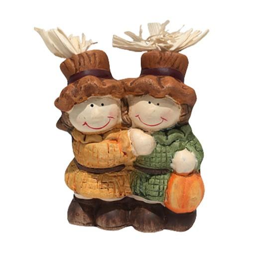 Herbst Dekofiguren Pärchen mit Strohhut bei bekos.ch
