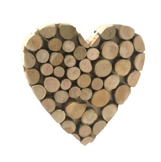 Holz Tischdekoration Herz bei bekos.ch