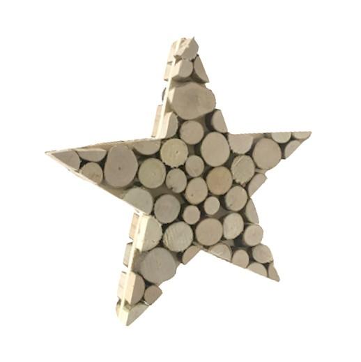Holz Tischdekoration Stern bei bekos.ch
