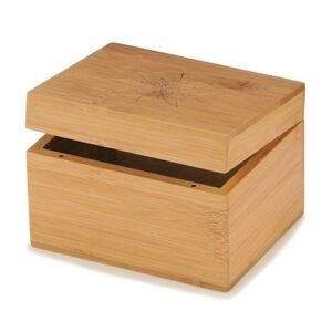 Kleine Holzkiste mit Deckel aus Bambus graviert bei bekos.ch
