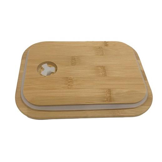 Lunchbox aus Glas mit Bambusdeckel bei bekos.ch