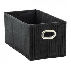 Praktischer Aufbewahrungskorb aus Bambus schwarz bei bekos.ch