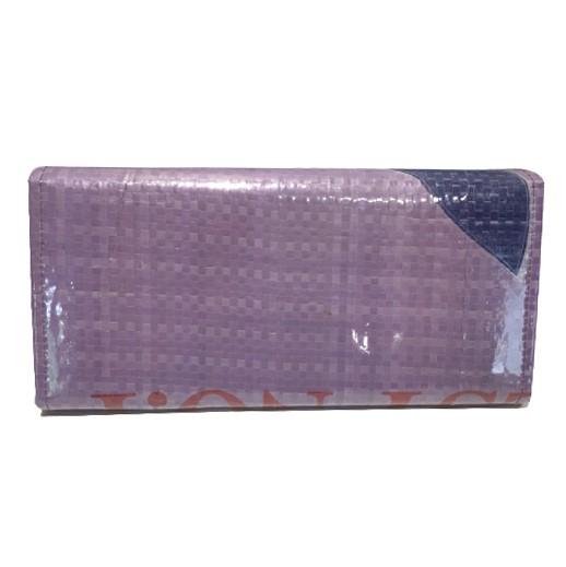 Upcycling - Deluxe Geldbörse aus Fischfuttersäcke violett bei bekos.ch