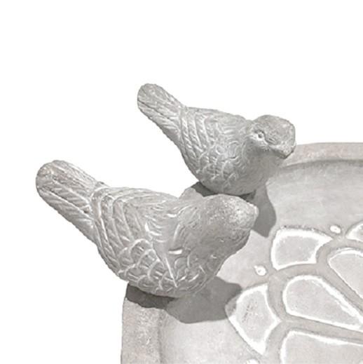 Vogeltränke / Vogelfutterschale aus Zement bei bekos.ch