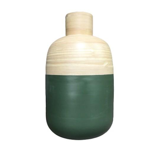 Bambusvase mit grüner Aussenhülle bei bekos.ch