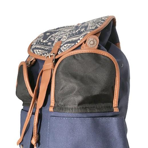 Blauer Stoffrucksack mit Elefant Muster Vintage bei bekos.ch