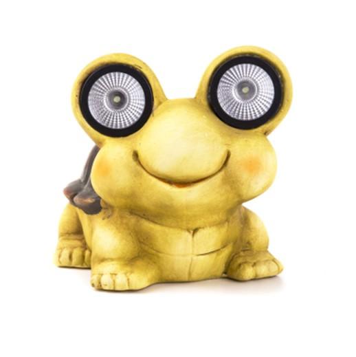 Dekofigur Schildkröte mit grossen LED Augen bei bekos.ch