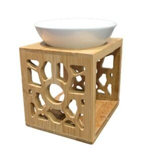 Duftlampe aus Bambus und Keramik bei bekos.ch