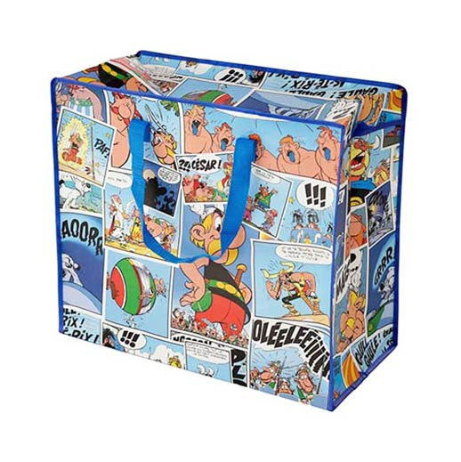Grosse Aufbewahrungstasche aus recycelten Plastikflaschen mit Asterix bei bekos.ch