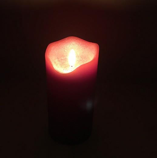 """LED-Echtwachskerze """"3D-Flamme"""" mit Timer rot L bei bekos.ch"""
