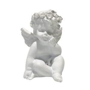 Niedlicher Engel mit glitzerndem Rosenkranz in den Haaren bei bekos.ch