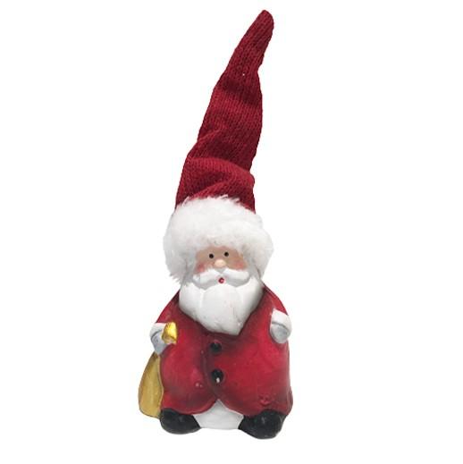 Putziger Weihnachtsmann mit langer roter Zipfelmütze bei bekos.ch