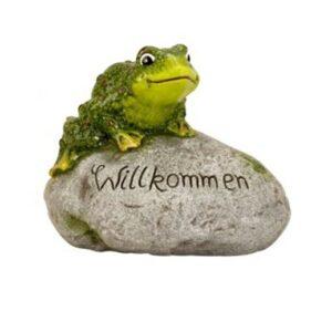Willkommen Dekostein mit lustigem Frosch bei bekos.ch