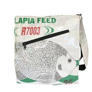 Upcycling - Shopper / Studententasche aus recycelten Fischfuttersäcke weiss bei bekos.ch